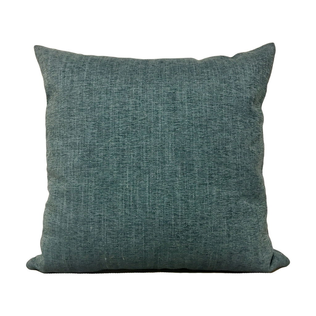 Remy Cadet Blue Throw Pillow 20x20""