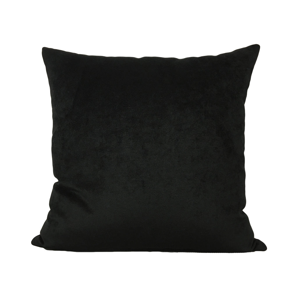 Royal Chenille Black Throw Pillow 20x20""