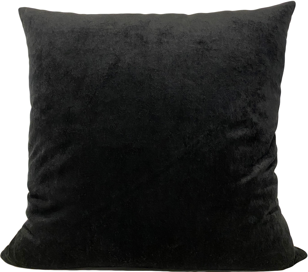Royal Black Euro Pillow 25x25""