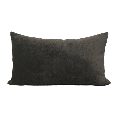 Royal Chenille Charcoal Lumbar Pillow 12x22""
