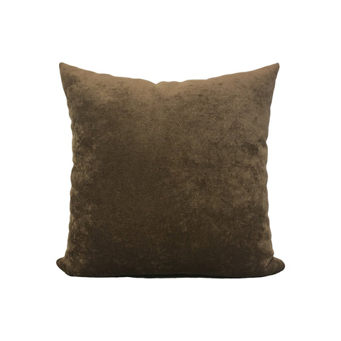 Royal Chenille Deep Brown - Throw Pillow 17x17""