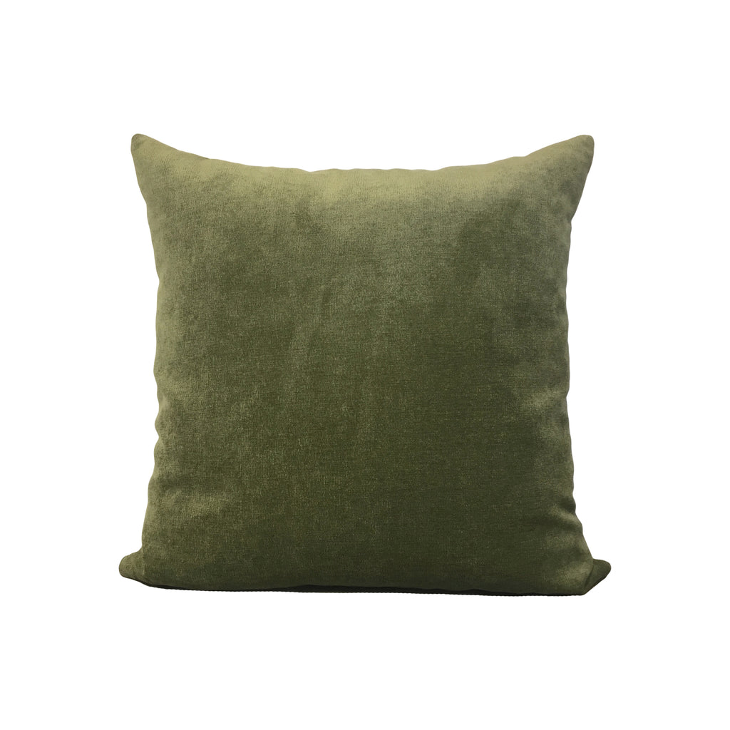 Royal Chenille Light Green Throw Pillow 17x17""