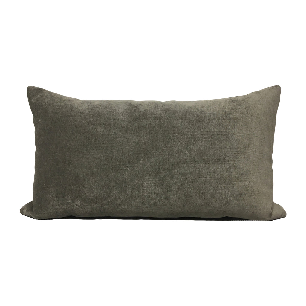 Royal Chenille Pewter Lumbar Pillow 12x22""