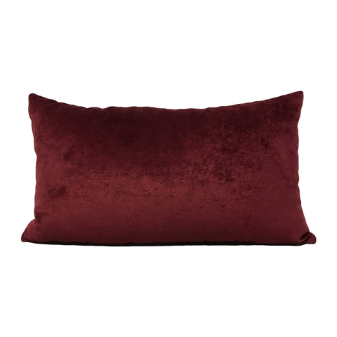 Royal Red Wine Lumbar Pillow 12x22""