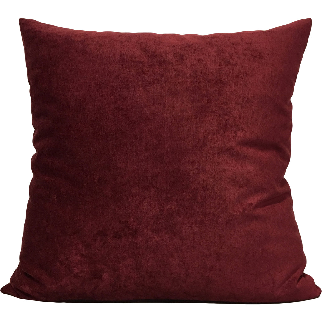 Royal Chenille Red Wine Euro Pillow 25x25""