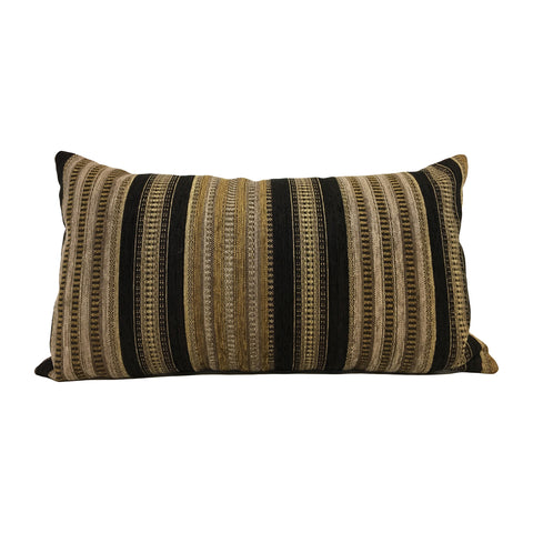 Salem Black Gold Lumbar Pillow 12x22""