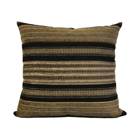 Salem Black Gold Throw Pillow 20x20""