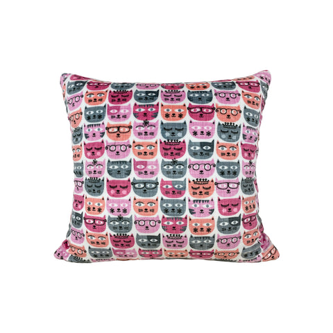 Sassy Cats Throw Pillow 17x17""