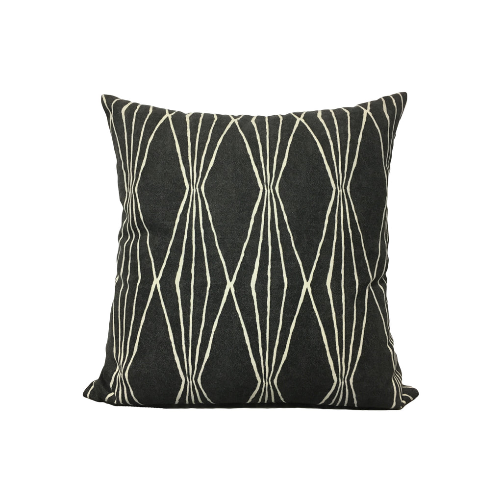 Shapes Charcoal Throw Pillow 17x17""