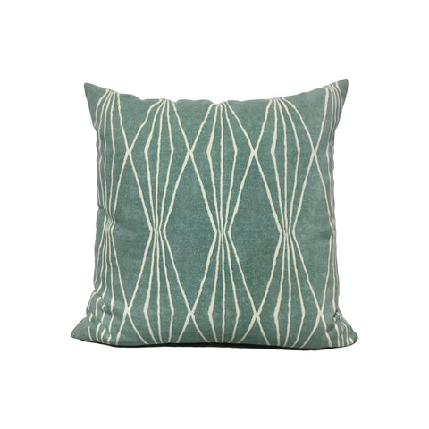 Shapes Rain Throw Pillow 17x17""