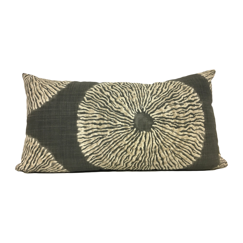 Shibori Lumbar Pillow 12x22""