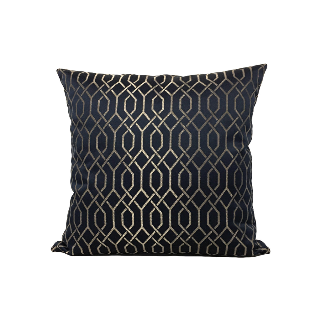 Soprano Links Blue Gold Throw Pillow 17x17""