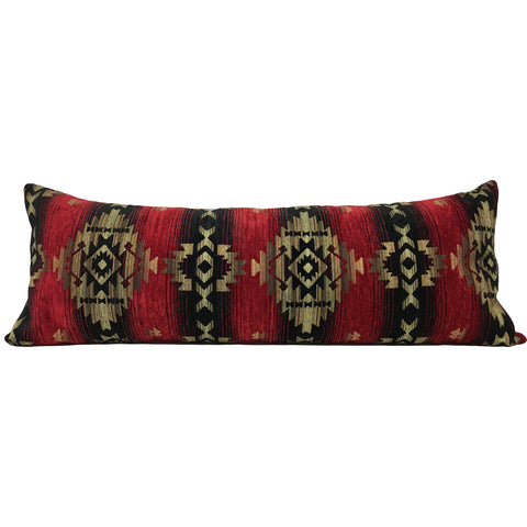 Southwest Navajo Fire Lumbar Pillow 39x14""