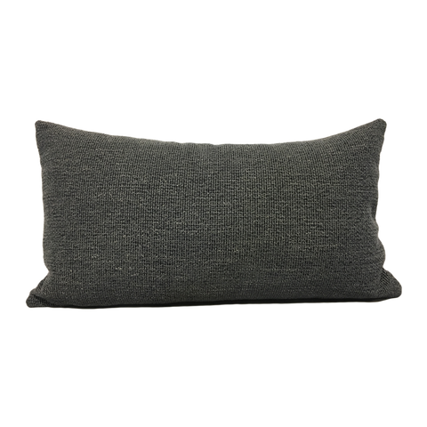 Stardust Charcoal Grey Lumbar Pillow 12x22""