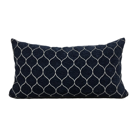 Stella Midnight Lumbar Pillow 12x22""
