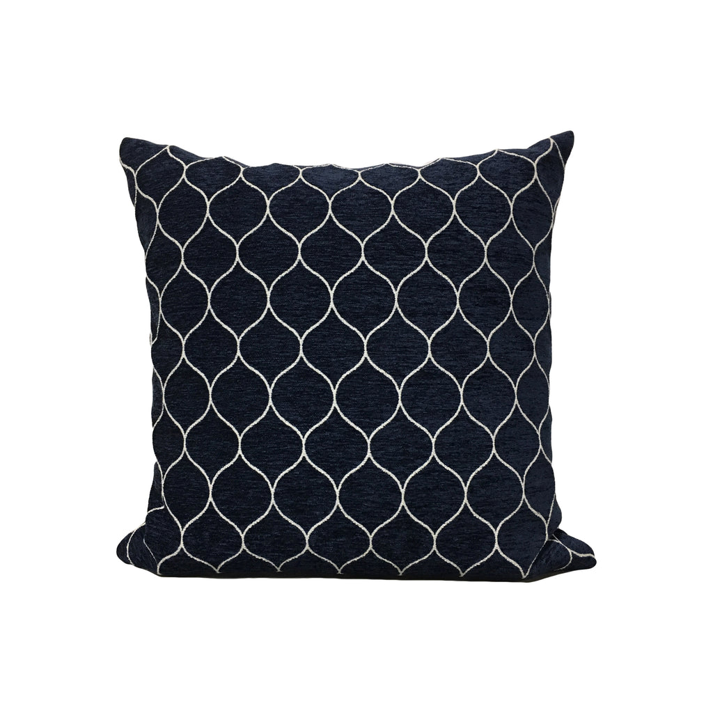 Stella Midnight Throw Pillow 17x17""