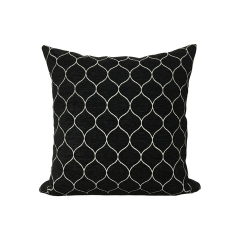 Stella Onyx Throw Pillow 17x17""