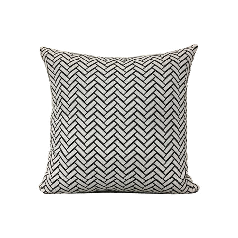 Subway Charcoal Throw Pillow 17x17""