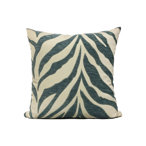 Tempo Namba Tiger Teal Throw Pillow 17x17""