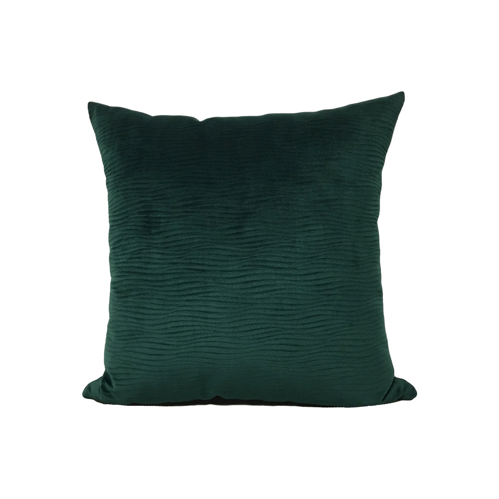 Textured Velvet Hunter Throw Pillow 17x17""