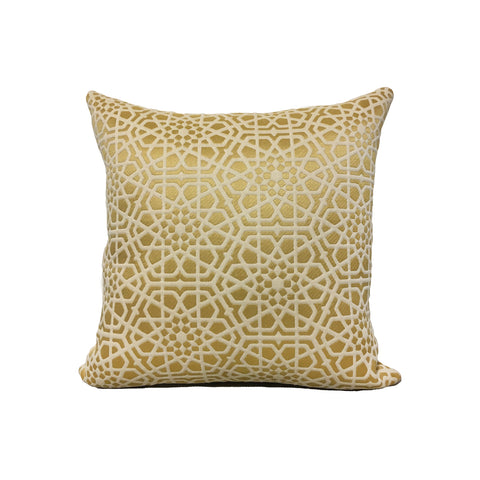 Theresa Gold Throw Pillow 17x17""