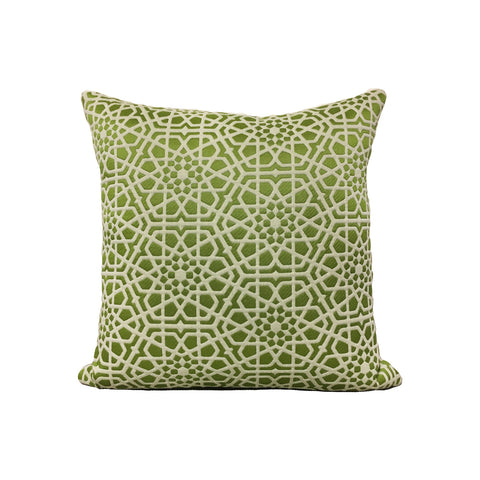 Theresa Macau Green Throw Pillow 17x17