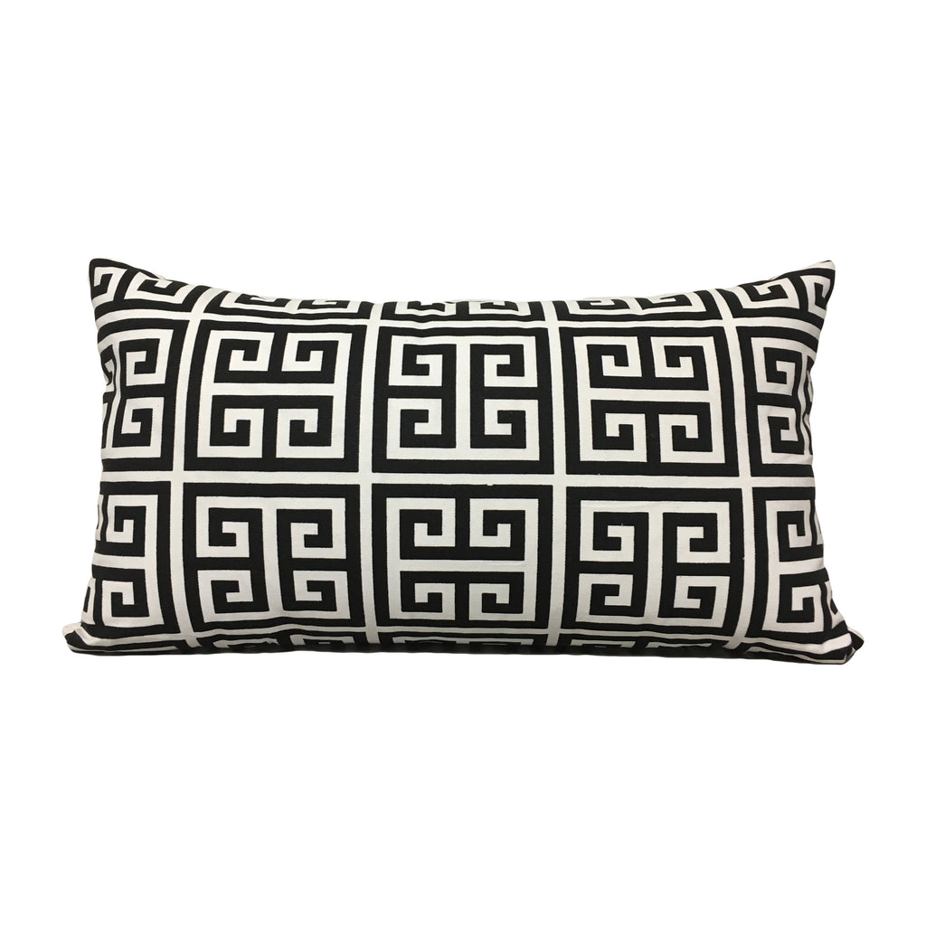 Towers Black/White Lumbar Pillow 12x22""
