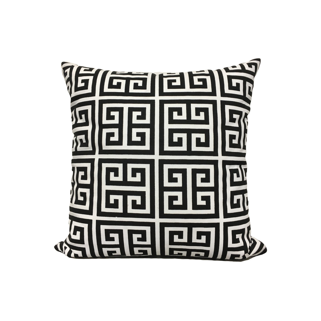Towers Black/White Throw Pillow 17x17""