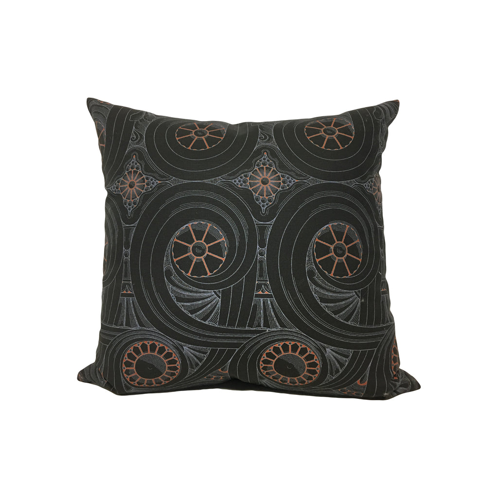 Towers Volutes Throw Pillow 17x17""