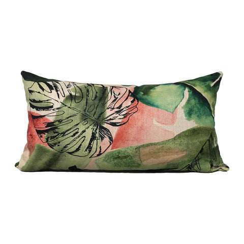 Tropical Wonder Clover Lumbar Pillow 12x22""