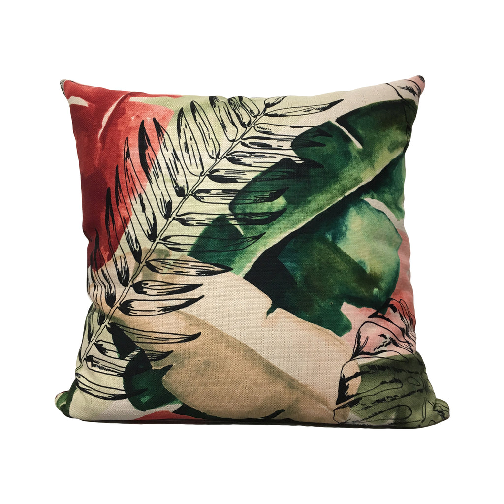 Tropical Wonder Clover Throw Pillow 20x20""