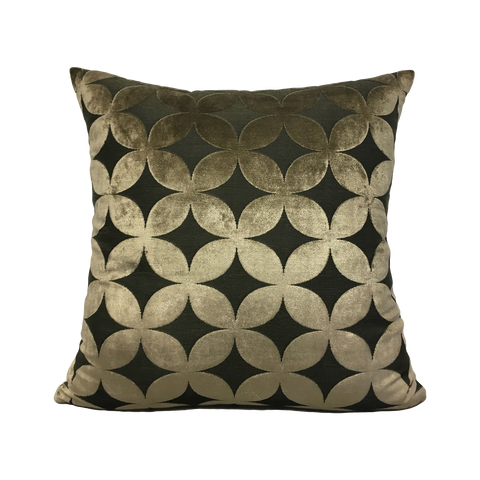 Tulip Taupe Geometric Throw Pillow 20x20""