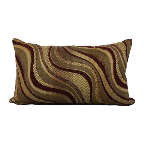 Tundra Wave Lumbar Pillow 12x22""