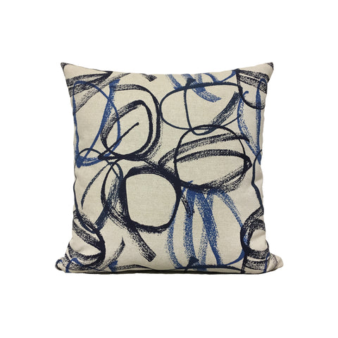 Vibrato Flax Basketweave Vivid Throw Pillow 17x17""