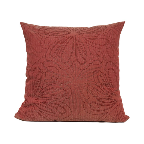 Vow Claret Floral Throw Pillow 20x20""