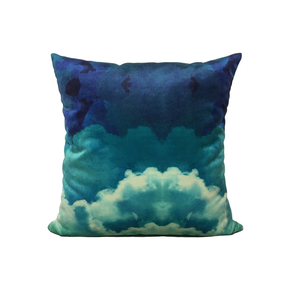 Watercolour Clouds Throw Pillow 17x17""