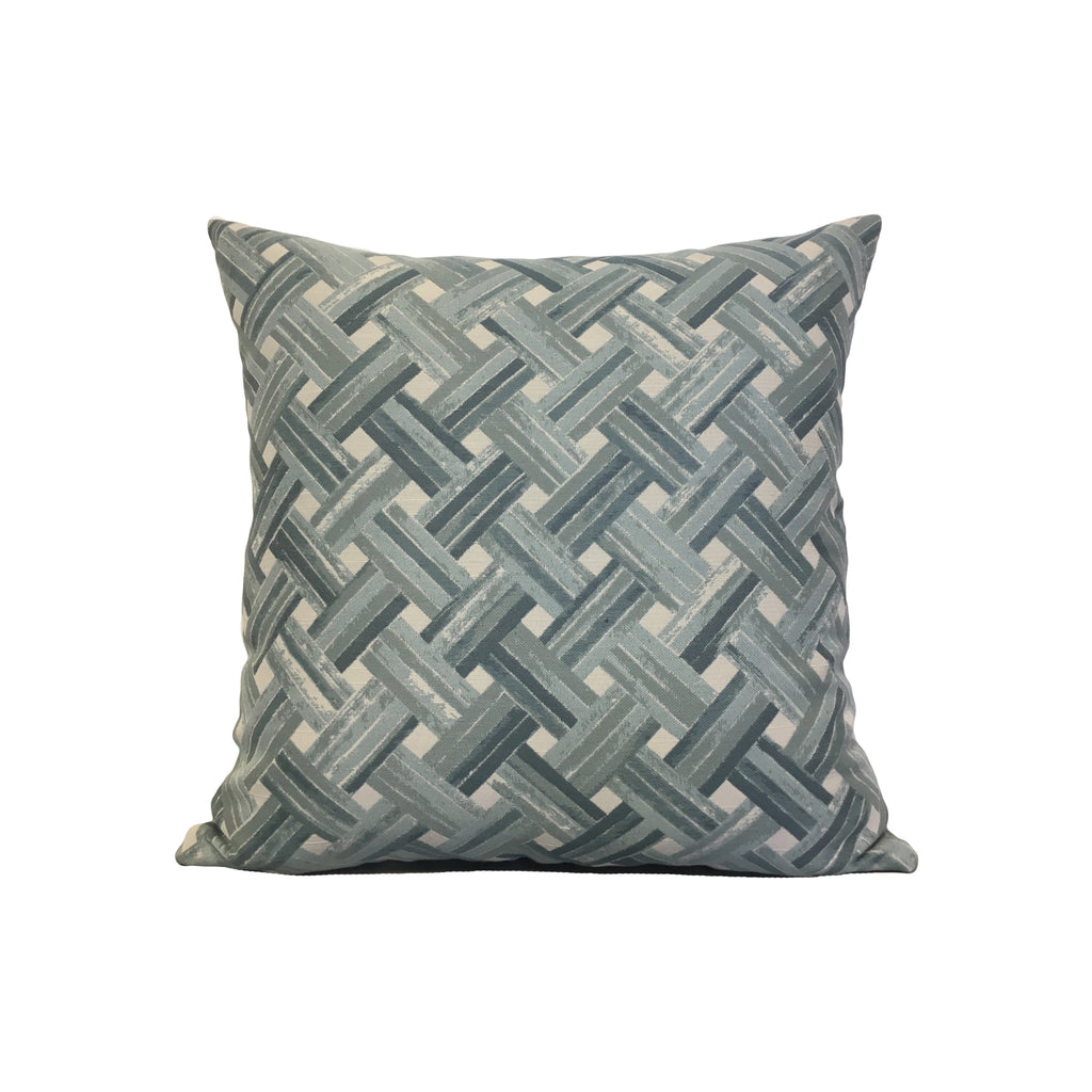 Weaver Spa Blue Throw Pillow 17x17""