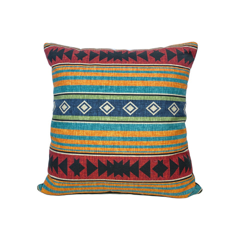 Western Blanket Throw Pillow 17x17""