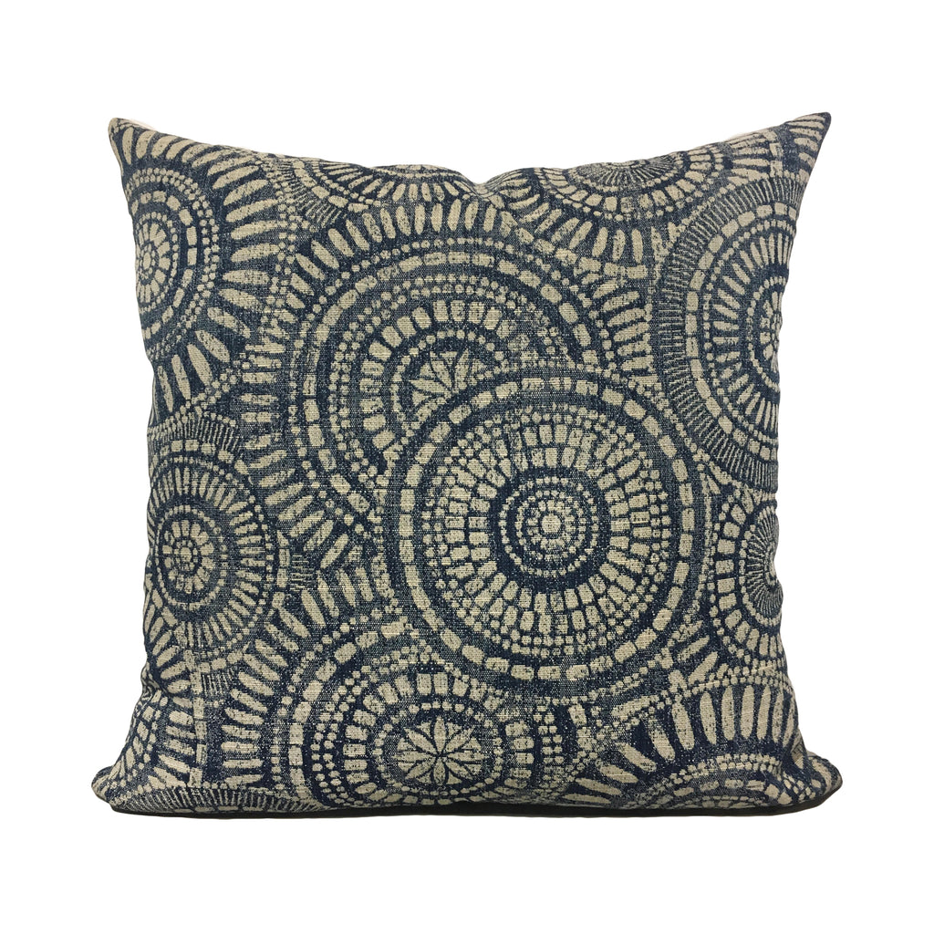 Wheeling Navy Throw Pillow 20x20""