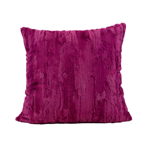 Willow Claret Faux Fur Throw Pillow 20x20""