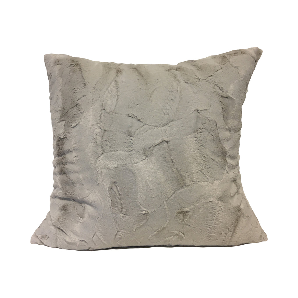 Willow Linen Faux Fur Throw Pillow 20x20""