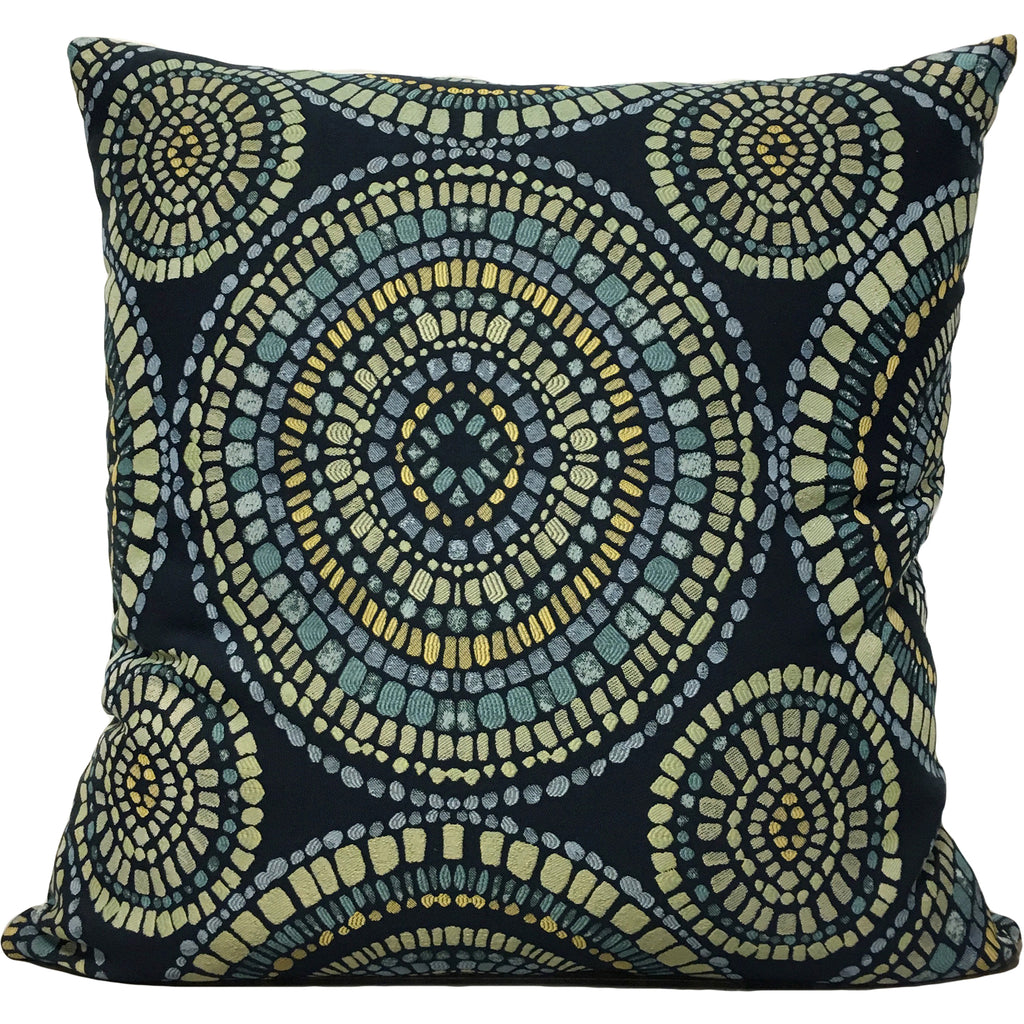 Winding Blues Euro Pillow 25x25""