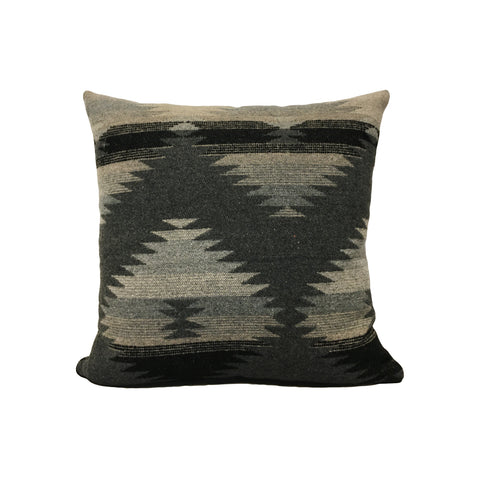 Woodlands Charcoal Grey Throw Pillow 17x17""