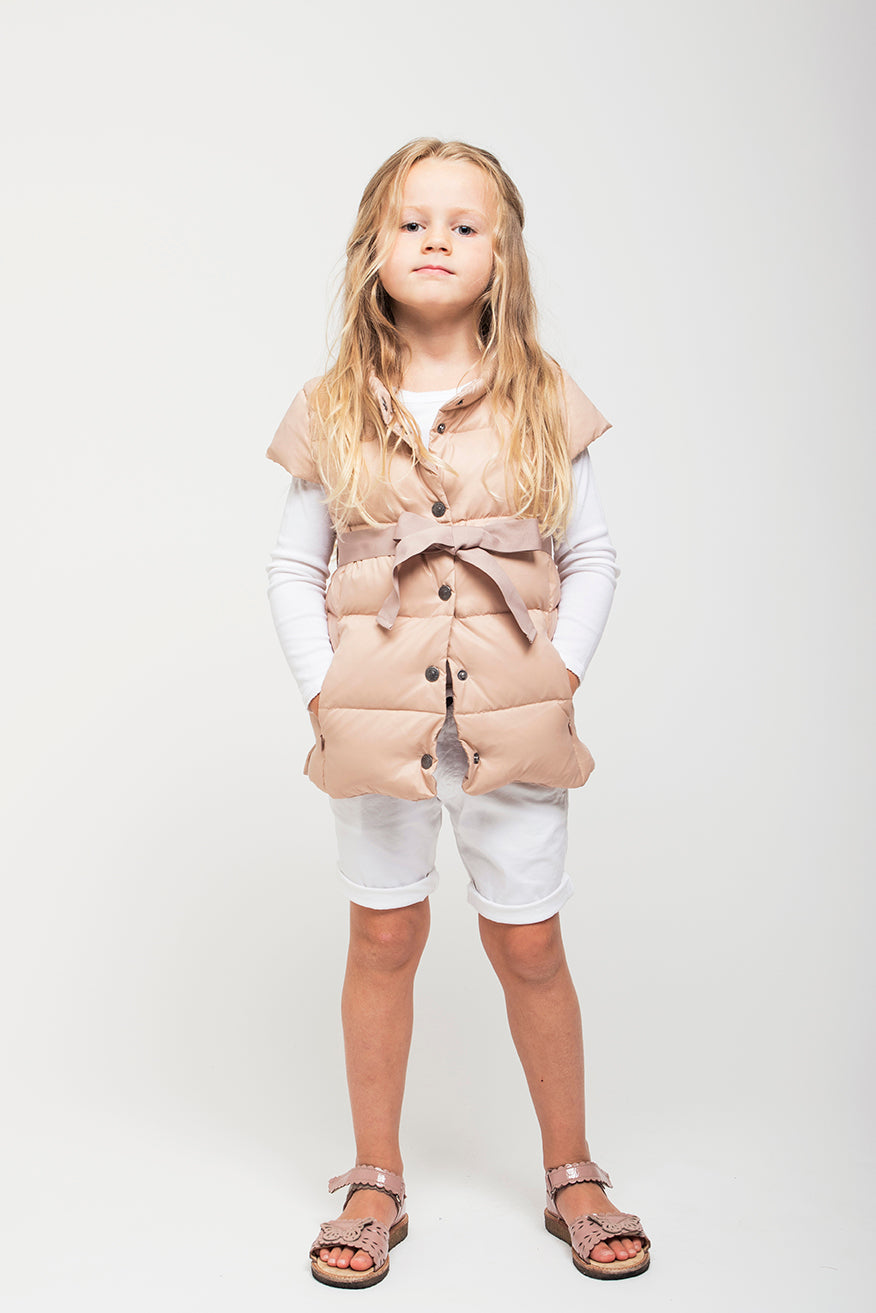 girl with vest