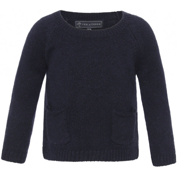 VER de TERRE Cashmere baby sweater Cashmere 600 Navy