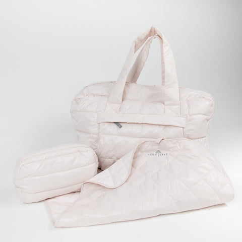 VER de TERRE Baby bag set w/purse and changing pad Accessories 405 Rose powder
