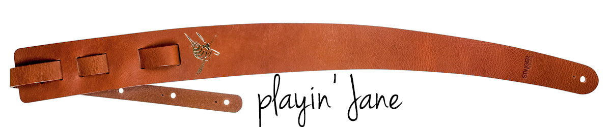 Playin' Jane Leather Guitar Strap