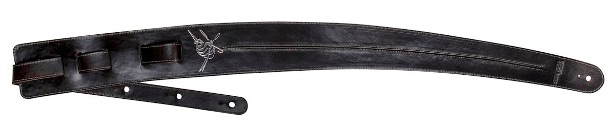 Premium brown leather guitar strap - The Backbone