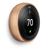energy saving nest learning thermostat 3rd gen copper