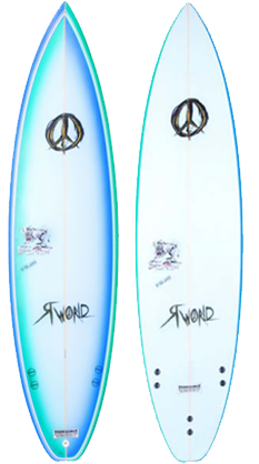 Beast Shortboard Surfboard_Blue Airbrush